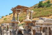 stock photo of brothel  - Ruins of an antique building in an antique city the Ephesus - JPG