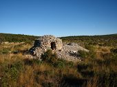 foto of shepherdess  - This is an old rural stone house - JPG