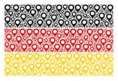 Germany Flag Collage Constructed Of Map Marker Icons. Vector Map Marker Pictograms Are Organized Int poster