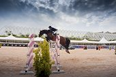 VALENCIA, SPAIN - MAY 7: Rider Bengtsson, Horse Casall la Silla, SWE in the Global Champions Tour Va
