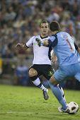 VALENCIA, España - el 2 de octubre - Liga profesional de fútbol entre Valencia C.F. vs a. Bilbao - Mesta