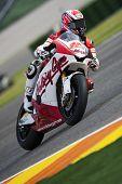 VALENCIA, España - el 7 de noviembre: Fonsi Nieto en motogp el gran premio de la Comunitat Valenciana, Ricardo