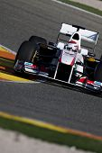 VALENCIA, SPAIN - FEBRUARY 1: F1 Winter Test - Kobayashi, Sauber F1 - on February 1, 2011 in Cheste,
