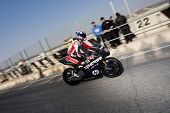 VALENCIA, SPAIN - FEBRUARY 10: - Moto2 and 125cc Test - Axel Pons - on February 10, 2011 in Cheste,