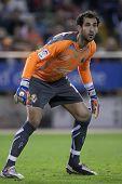 VALENCIA, Spanien - 10. APRIL: Diego Lopez in der spanischen Fußball-Liga zwischen Valencia c.f. Vs Vill