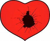 picture of broken hearted  - A broken heart with a hole  - JPG