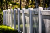White Solid Privacy Vinyl Fence Around Your House poster