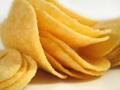 foto of potato chips  - close up of potato chips - JPG