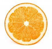 Perfectly Retouched Sliced Half Of Orange Fruit Solated On The White Background With Clipping Path.  poster