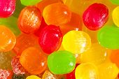 Close Up A Background From Colorful Sweets Of Sugar Candies. Assortment Candies View. Colored Backgr poster