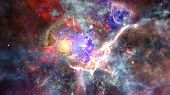 Image Of The Nebula In Deep Space. Elements Of This Image Furnished By Nasa. poster