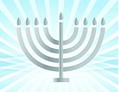 silver Menorah illustration design