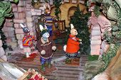 Постер, плакат: Рождественские украшения Миниатюрные модели кроликов