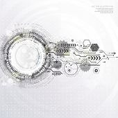 Abstract Technological Background With Various Technological Elements. Structure Pattern Technology  poster