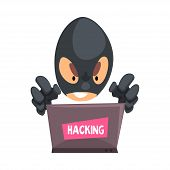 Personal Information Theft Vector Illustration. Digital Privacy And Data Storage poster