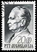 YUGOSLAVIA - CIRCA 1967: A stamp printed in Yugoslavia, is depicted Josip Broz Tito, circa 1967