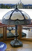 Decorative Antique Metal Lamp Still Life