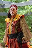 MUSKOGEE, OK - MAY 26: Actor dressed as a gypsy perform at the Oklahoma 17th annual Renaissance Fest