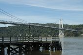 Poughkeepsie Bridge over hudson river