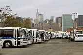 Bkln bus depot with NYC skyline