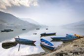 Boats On Pokhara Fewa Lake