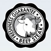 Beef Steak, Freshness Guarantee Seal