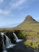 Filmed The Most Popular Series In The World . Beautiful Waterfall And Mountain Kirkjufell poster