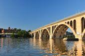 Washington DC - Key Bridge on Potomac River