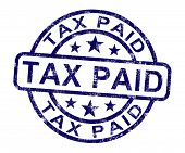 Tax Paid Stamp Shows Excise Or Duty Paid