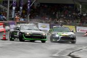 KUALA LUMPUR - MAY 20: Emmanuel Armandio (right) chases Tengku Djan (left) during the Formula Drift