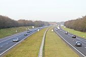 Traffic on highway A1 in the Netherlands