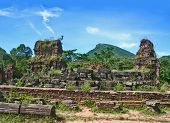image of champa  - My Son landmark champa kingdom in Vietnam