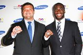 NEW YORK-JUNE 4: New York Giants players Henry Hynoski and Prince Amukamara attend Samsung's annual