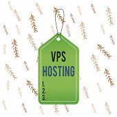 Handwriting Text Vps Hosting. Concept Meaning Mimics A Dedicated Server Within A Shared Hosting Envi poster