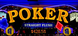 image of poker machine  - Poker sign close up  - JPG