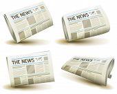 Conjunto de ícones de jornal