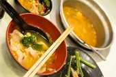 picture of shabu  - Japanese dinner in progress - JPG