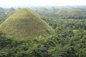 picture of chocolate hills  - chocolate hills of bohol island in the philippines - JPG