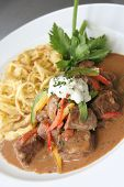 Beef Stroganoff Or Stroganov On Plate