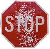 Shot Stop Sign