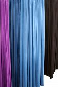 Four Colors Of Drapes Or Curtains