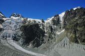 Lower Arolla Glacier And Vignettes Refuge
