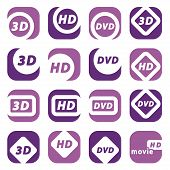 color movie icons