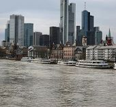 The Skyline Of Frankfurt And River Main (germany)
