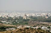 View from Golkonda Fort towards Seven Tombs