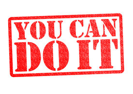 stock photo of pma  - YOU CAN DO IT rubber stamp over a white background - JPG