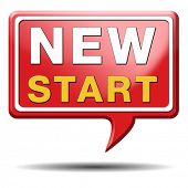 new start or chance back to the beginning and do it again button icon or sign