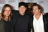 LOS ANGELES - NOV 9:  Woody Harrelson, Brett Harrelson, guests at the AFI FEST 2013 Presented By Aud