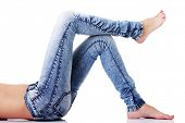 stock photo of denim jeans  - Female - JPG