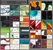 44 Backgrounds for double business cards